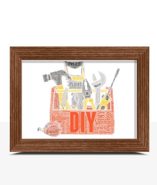 Personalised Toolbox – Tradesman Word Art Gift