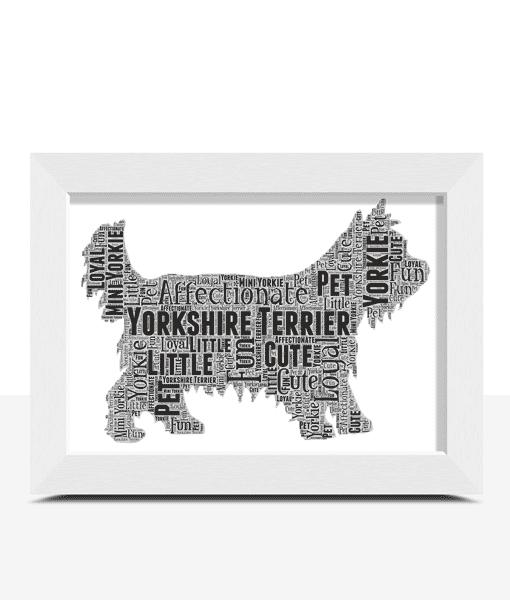 Personalised Yorkshire Terrier Dog – Yorkie Word Art Animal Prints