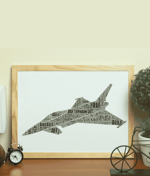 RAF Typhoon – Personalised Word Art Gift Military Gifts