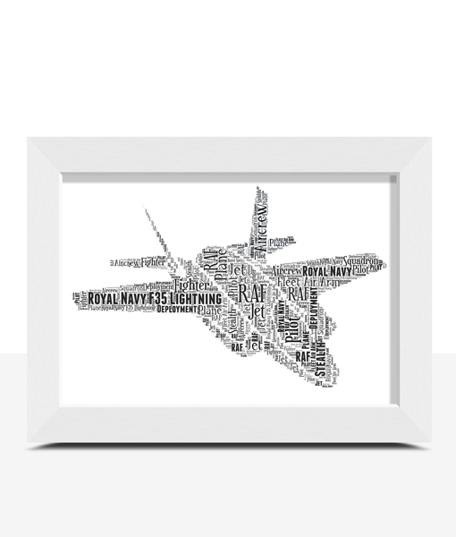 Royal Navy RAF F35 Lightning Jet – Personalised Word Art Gift Military Gifts