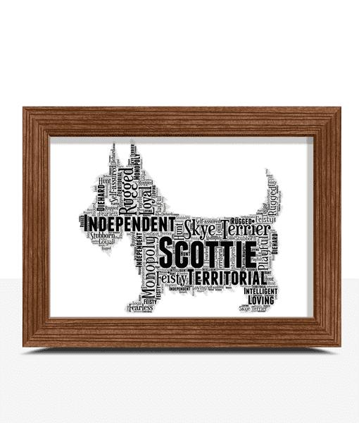 Personalised Scottie Dog – Scottish Terrier Word Art Animal Prints