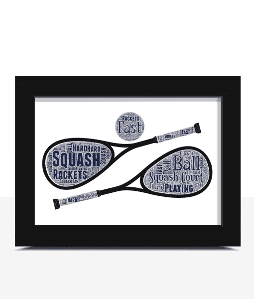 Squash Player – Personalised Word Art Gift Sport