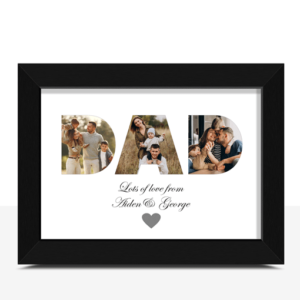 DAD Photo Word Art – Personalised Father's Day Gift Fathers Day Gifts