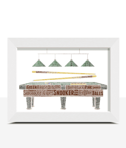 Snooker Table Word Art – Snooker Player Gift Sport Gifts