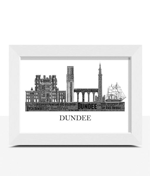 Personalised Dundee City Skyline Word Art City Skyline Prints
