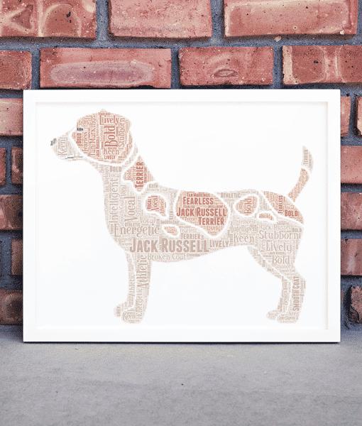 Personalised Jack Russell Terrier Dog – Word Art Animal Prints