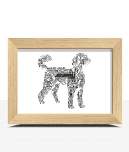 Personalised Labradoodle Dog – Word Art Animal Prints