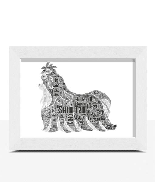 Personalised Shih Tzu Dog – Word Art Animal Prints