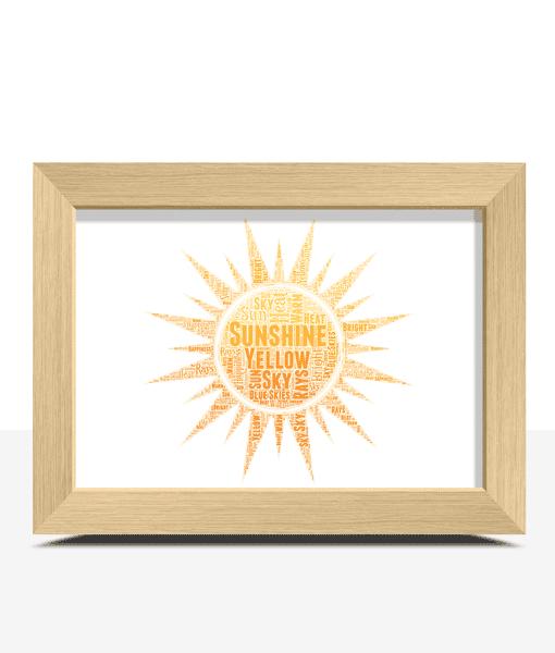Sunshine Design – Sun Word Art Print Get Well Soon